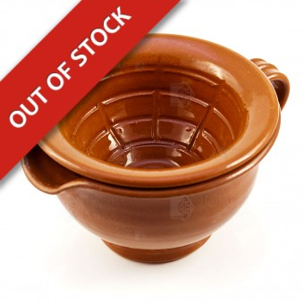 "Clay Shaving Scuttle - ""Estremoz"" V2 - Dual Piece Bowl"