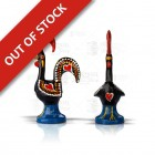 Galo Barcelos Good Luck Rooster  Iron Figurine - 8cm