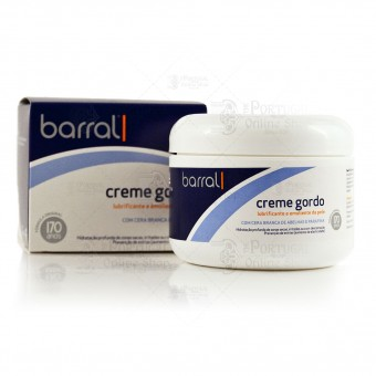 Barral Creme Gordo - Cold Cream Moisturizer - 200g