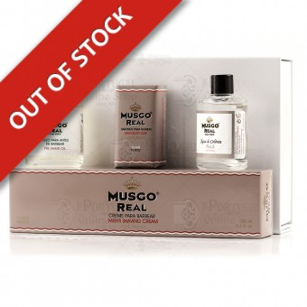 Musgo Real White Gift Box Shave Set Oak Moss - Claus Porto