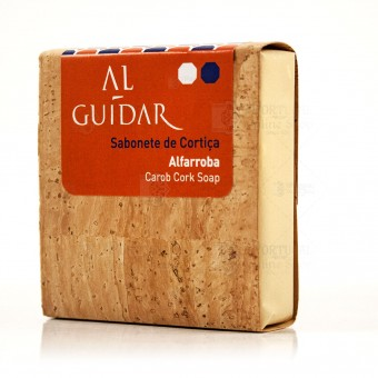 Al-Guidar Artisanal Cork Soap - Carob