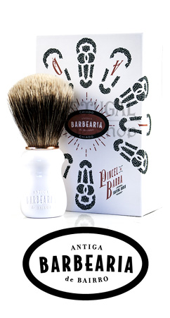 Antiga Barbearia de Bairro Chiado badger Shaving brush pincel da barba texugo semogue -  www.ThePortugalOnlineShop.com