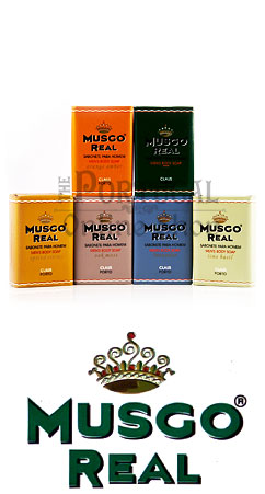 Claus Porto Musgo Real - Men's Body Soap Lime Basil 160g - ThePortugalOnlineShop