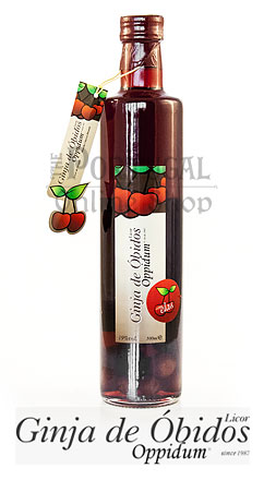 Ginja de óbidos 500ml ginjinha com elas oppidum bottle morello cherry berry liqueur with fruits