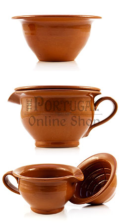 Clay Shaving Scuttle - Estremoz - single and two pieces for bowl lather - ThePortugalOnlineShop