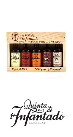 Quinta do Infantado Port Wine Miniatures 5 x 50ml Gift Box - Vinho do Porto Miniaturas caixa de oferta Reserva - www.theportugalonlineshop.com The Portugal Online Shop