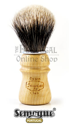 Semogue Owners Club SOC 2 Band Badger Shaving Brush Ash Wood