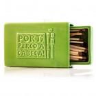 Stoneware Faience Matchbox with Sandpaper - Green - Por Ti Perco a Cabeça